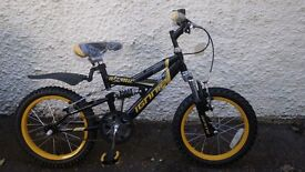 "New Ignite ""Atomic"" 16 inch Wheel Full Suspension Mountain Bike."