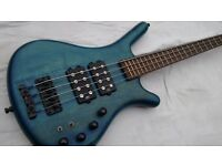 Warwick Corvette Bass Guitar Made In Germany $$ Doublebuck, with Fender Gigbag