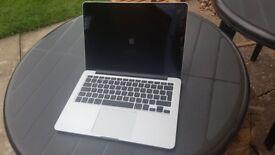 2014 Macbook Pro 13.3 Retina Core i5 2.4ghz 4gb 120sd 471 cu