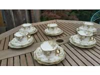 Retro chintz tea set
