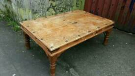 Mexican Pine Coffee Table for Refurbishment