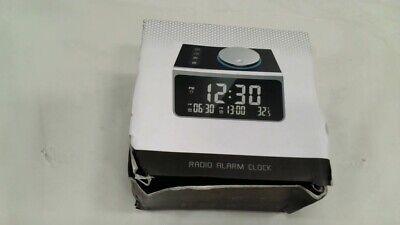 Dual Alarm Clock Radio with 2 USB Ports & 3.2 Alarm/Clocks/Temperature Display