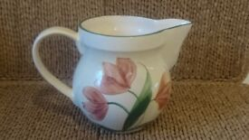Early Suzanne Katkhuda Signed Studio Art Pottery Large Tulip Design Jug. VGC. Unusual. Collectable