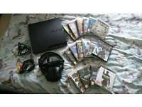 PS3 Slim Console Bundle with 19 Games - not ps4, Xbox, Wii