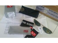 New & tagged Genuine Ray Ban aviators (WITH RECIEPT from the sunglasses shop.