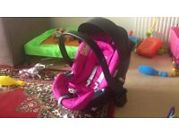 Mamas & Papas Cybex Aton Car Seat - Hot Pink