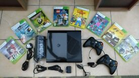 Xbox 360 500Gb Go + Controllers, Headset & Selection of Games
