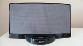 Black Bose Sound Dock with Remote & Manual - £40