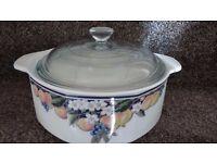 Royal Doulton casserole dish.