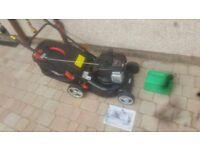 As new Briggs & Stratton Petrol Lawnmower Height Adjustable