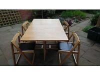 Butterfly Folding Table and leather effect padded chairs
