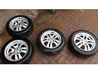 Bmw 3 series e46 e90 e91 e92 alloy wheels tyres