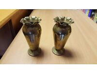 Two Small Brass Vases in Good Condition