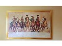Magnificent 7 painting excellent condition