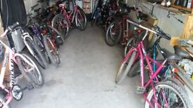 over 50 ladies and gents mountain bikes for sale at car boot prices