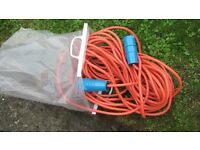 Motorhome or caravan extension cable