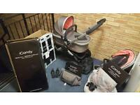 ICandy peach all terrain pushchair and carrycot with all accessories from birth