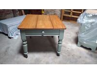 Antique Pine Kitchen Serving Table / Centre Island / Dining Table with drawer - Beautifully restored