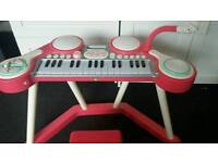 ELC girls piano with drums