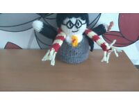 Hand knitted Harry Potter.