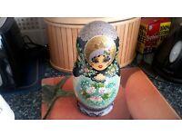 Russian Babuska doll. 9 pieces.