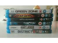 Selection of 6 Action Blu-ray DVD'S in Mint condition