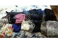 Large bundle of maternity clothes in size 10/small