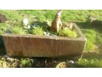 Stone sink/troughs X 2