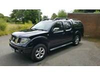 Nissan navara 2007 d40 black leather sat nav vgv no vat