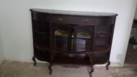 Antique drinks/glass cabinet