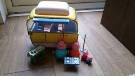 Peppa Pig Camper van & characters