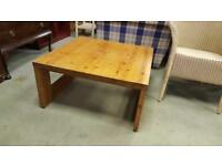 Solid Pine Square Coffee Table