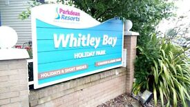 STUNNING PRE-OWNED STATIC CARAVAN FOR SALE AT WHITLEY BAY HOLIDAY PARK ON NORTH EAST COAST
