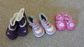 3 Pairs (Size 3-6 Month) Shoes
