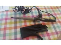 Babyliss Curling Wand with heatproof glove As New
