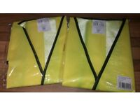 Hi Vis waistcoats - Extra Large - Cyclists, builders, contractors, dog walkers, high visibility