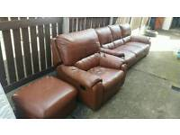 Brown leather suite / FREE DELIVERY