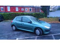 Peugeot 206, 1.4 Diesel, low mileage, £30 road tax