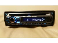 CAR HEAD UNIT SONY MP3 CD PLAYER WITH BLUETOOTH AUX BUILD IN MIC 4x 52 AMPLIFIER AMP STEREO RADIO BT