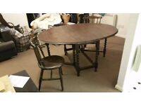 FREE Folding Dining Table & 2 Chairs