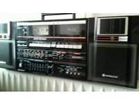 Hitachi twin tape deck radio