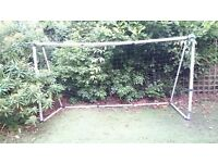 GOAL WITH NET 6FT x 8FT USED AND SLIGHTLY DAMAGED BUT EASY TO FIX FREE TO COLLECT