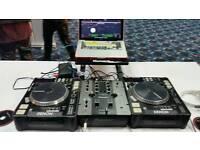 x2 Denon sn5000 CD Mp3 DJ Decks and coffin flightcase