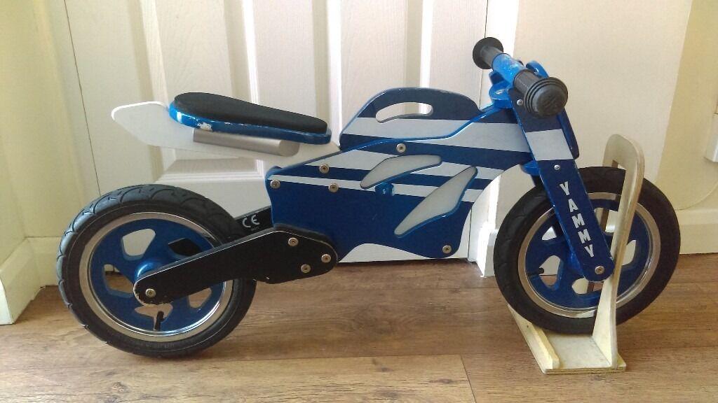 Wooden Balance Bike Yammy Motorbike Made By Kidzmotion 20
