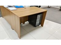 Dark Wood Effect Desk 1400mm Length 700mm Depth 700mm High in Great Condition
