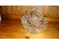 Large Crystal Fruit/Flower Basket