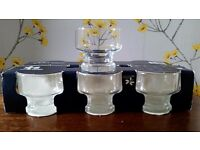 Set of 6 glass sundae dishes