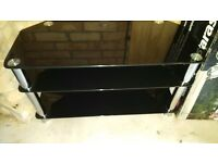 Black Glass tv stand and Plain glass tv stand