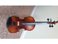 Valentino Full Size Violin Very Good Condition with clip on digital tuner