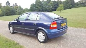VAUXHALL ASTRA 5DR AUTOMATIC, GENUINE VERY LOW MILEAGE,A/C, 1 OWNER(LADY),GOOD DRIVE